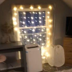 Sheer curtain lights